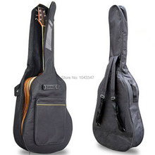 1pc New Black Padded Acoustic Guitar Bass 40 41 Inch Back Carry Cover Case Bag Holder Shoulder Straps Music Student(China (Mainland))