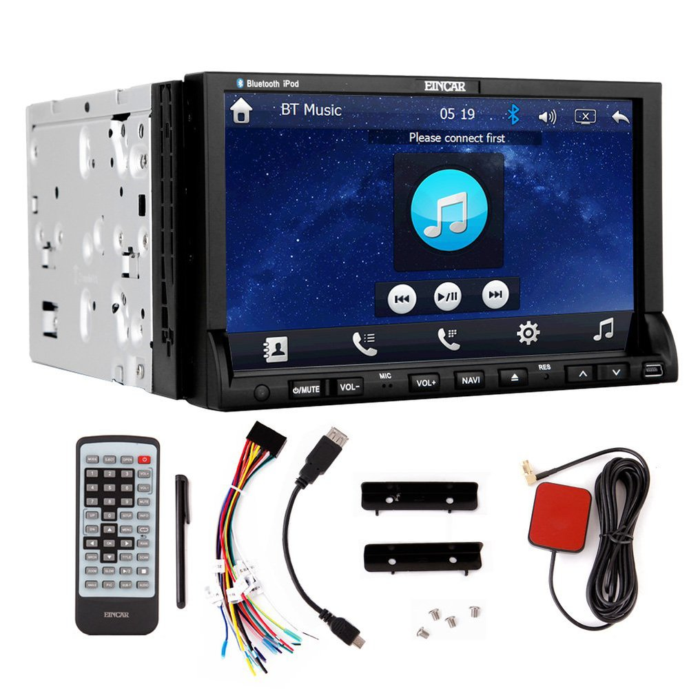 7 Car Dvd Cd Player Gps Navi Car Stereo Radio Touchscreen Capacitive Bluetooth Fm Am Usb