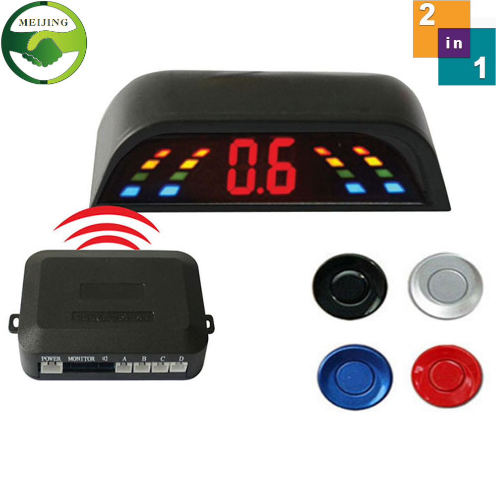 Wireless 2.4 GHz Transmitter Receiver Kit Car LED Parking Sensor with 4 Sensors 6 Colors + Sound Alarm. Easy to install(China (Mainland))