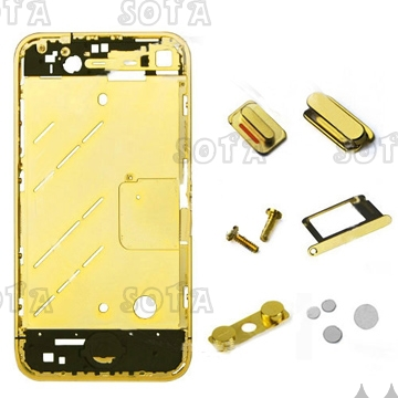 Golden Combo Parts for iPhone 4 Free shipping Wholesale(China (Mainland))