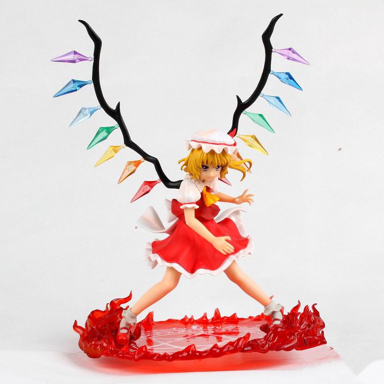 Anime sex doll Cartoon Griffon Enterprises Touhou Project Flandre Scarlet Red Sword PVC Action Figure Model toy 25cm(China (Mainland))