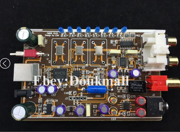 Аудио усилитель HIFI XMOS PCM5102 DAC 384K/32 bit DSD I2S USB GFB002
