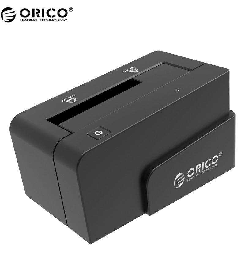 "ORICO USB 3.0 & eSATA Docking Station for 2.5' or 3.5"" HDD SSD Enclosure with 12V 2.5A Power Adapter -Black(6618SUS3-BK)(China (Mainland))"
