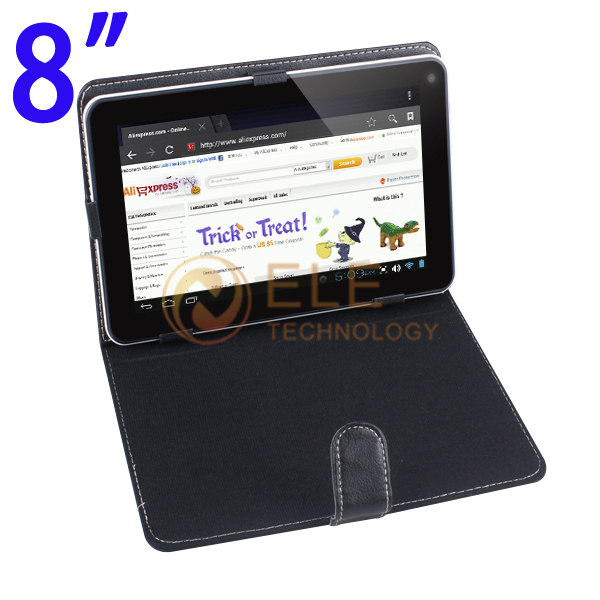 8inch leather case for tablet pc high quality