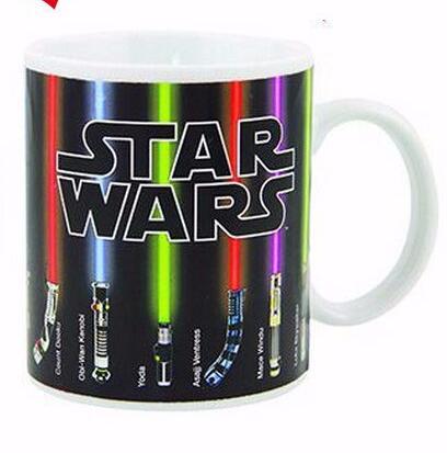 Mug Star Wars Lightsaber Heat Sensitive Color Changing Gift Mugs Coffee Cup Ceramic Mug Temperature Sensing Birthday(China (Mainland))