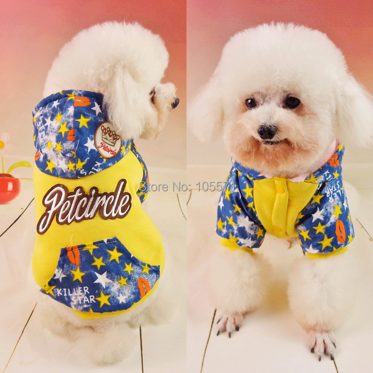 2014 new winter thickening stars pet sweater pet clothes Pet Products for Teddy Poodle Pomeranians Shih Tzu Chihuahuas Papillons(China (Mainland))