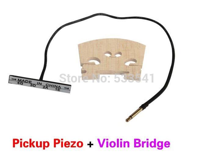 Double Piezo Upright Cello Pickup Bass Cello + Baroque Style Violin Bridge(China (Mainland))