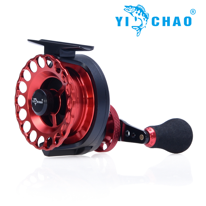 YICHAO New KKD65 Gear ratio 3.6:1 Aluminum Front-end Fishing Left/Right Hand Fly Fishing Reel Raft Ice Fishing Reel Fly Reel<br><br>Aliexpress