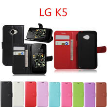Buy Hot Selling LG K5 Case Wallet Style PU Leather Case LG K5 X220 Stand Function Card Holder for $3.39 in AliExpress store