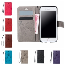 Buy iPhone 7 Wallet Case Vintage PU Embossed Flip Leather Case iPhone 7 Plus 7Plus Flower Butterfly Fundas Coque for $2.98 in AliExpress store