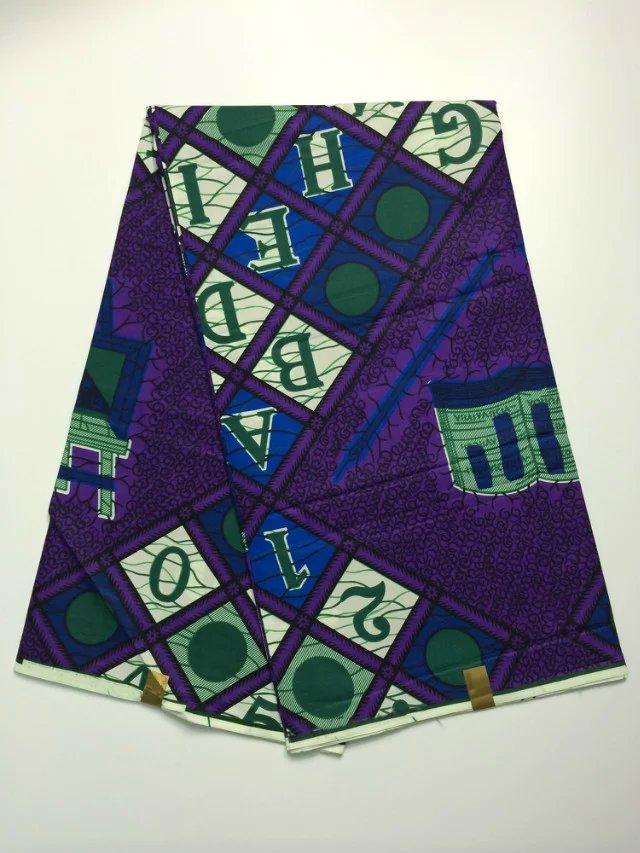 Wholesale high quality 100% cotton super wax hollandais fabric, African ankara fabric 6 yards/lot (tqd(China (Mainland))