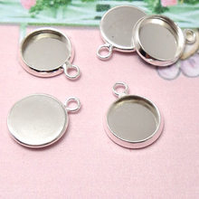 10pc/lot Fit 12/14/16/18/20/25mm Glass Cabochon Cameo Bracelet Charms Necklace Pendants Findings Bases Tray Blank Diy Jewelry(China)