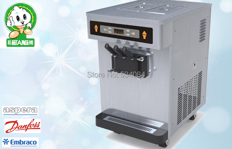 Countertop Ice Maker Soft Ice : Countertop Soft Serve Ice Cream Machines , Standby System Keep Fresh ...