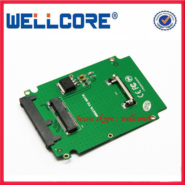 New Arrival Factory Wholesale Msata to Sata Adapter mSATA Adapter Converter Card For Notebook Laptop SSD Internal(China (Mainland))