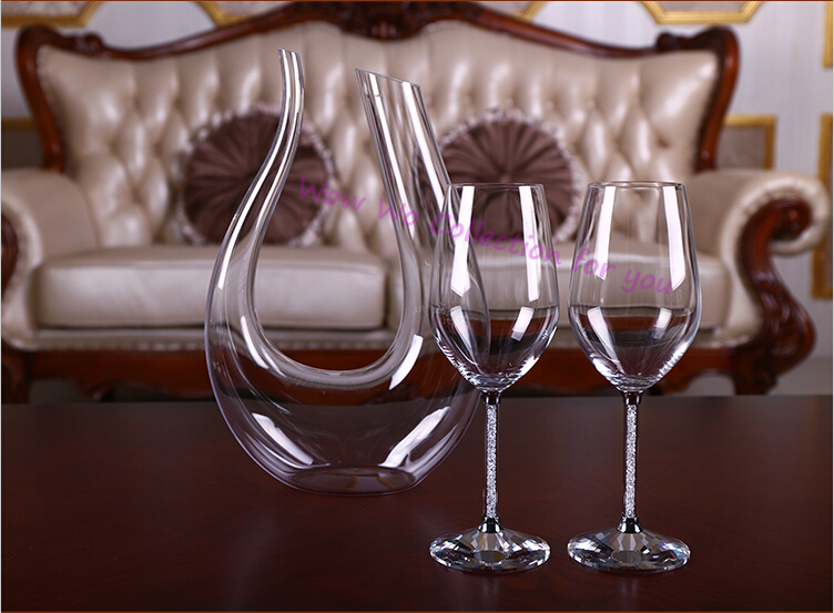 ... luxury crystal red wine glass goblet wedding gifts for newly couple
