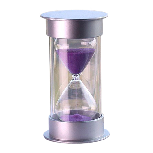 CLOS Plastic Crystal Sandglass 15 Minutes Sand Clock Decoration Sandglass Timer purple(China (Mainland))