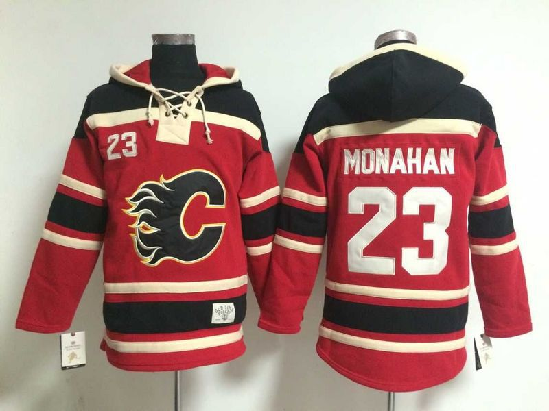 Mens Ice Hockey Hoodies Calgary Flames Jersey #23 Sean Monahan Red.2179<br><br>Aliexpress
