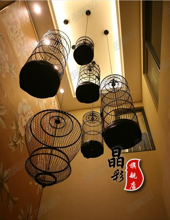 Tieyi cage lights Large sheepskin lamp chinese style pendant light floor lamp lantern lamp(China (Mainland))