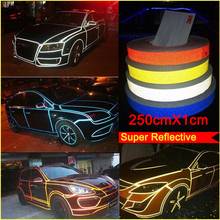Car decoration 200cm*1cm Motorcycle Reflective Tape Stickers Car Styling For Mazda Toyota VW Wolkswagen Chevrolet Peugeot Decals(China (Mainland))