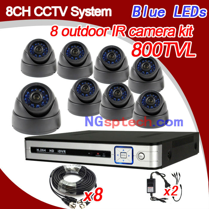 CCTV Security Standalone Network H.264 Internet View 8CH DVR Digital Video Recorder ,8ch Surveillance waterproof camera system(China (Mainland))