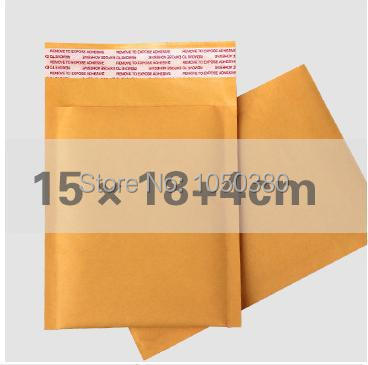 50pcs 15x22cm Kraft bubble Courier mailing bags Airkraft padded mailing envelopes self-seal bubble bags packing list envelopes(China (Mainland))
