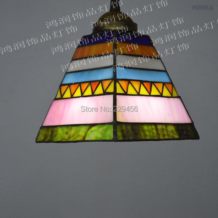 Tiffany Pendant Light Stained Glass Spanish Style Dining Room Decoration Lamparas Lustre E27 110-240V(China (Mainland))
