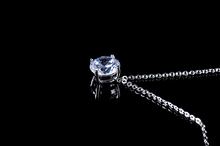 High Quality 18K WHITE GOLD Charm Necklace 2015 Fashion Necklaces Jewelry made with AAA CZ GLD0526