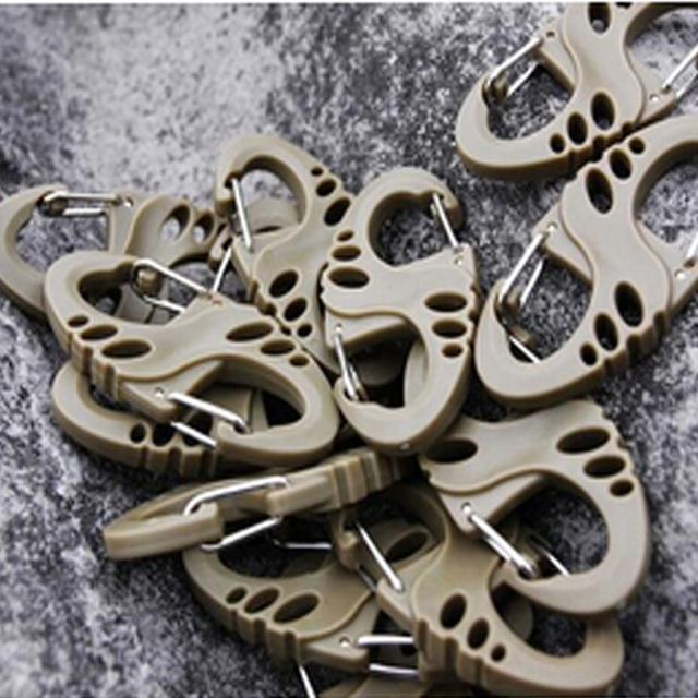 5Pcs Lot S Type Backpack Clasps Climbing Carabiners EDC Keychain Camping Bottle Hooks Paracord Tactical Survival Gear Wholesale