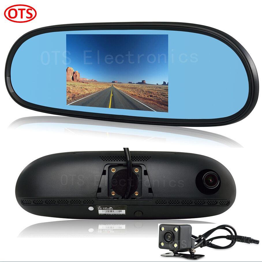 New 5 inch Mirror GPS Android GPS Navigation DVR Bluetooth Phone Call 16GB Disk Rear View Dual Camera Quad Core CPU WiFi Mirror(China (Mainland))