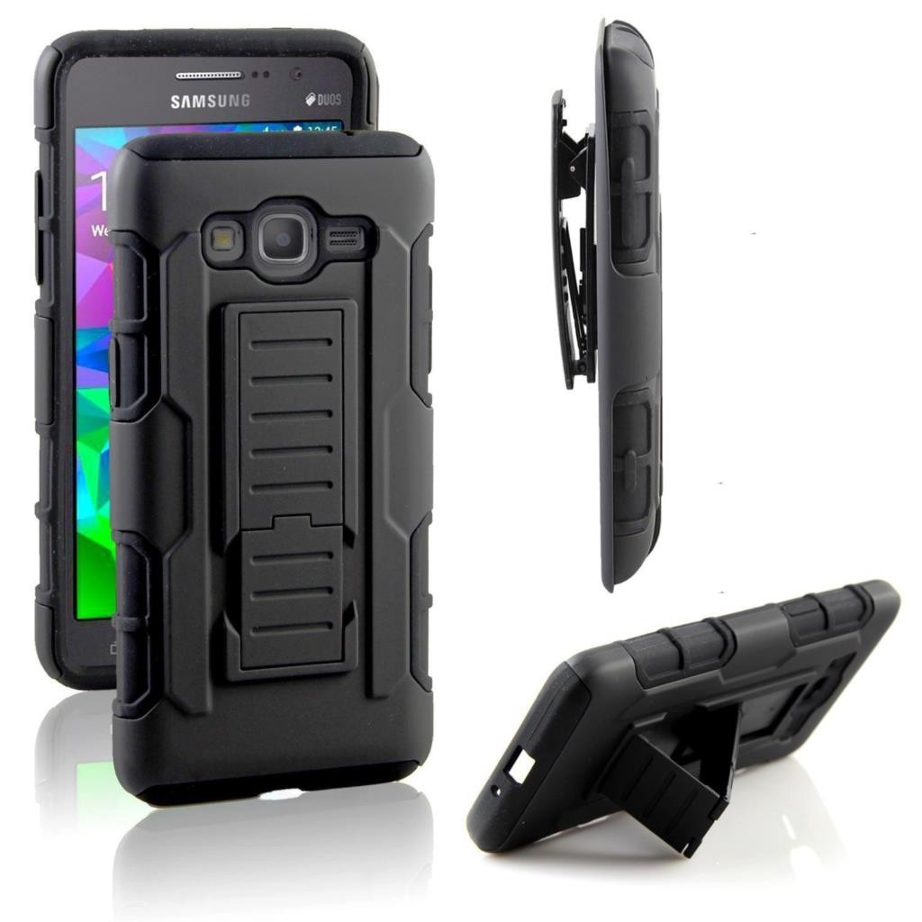 For Galaxy Grand Prime G530 Dual Layer Hybrid Armor Phone Case Full Body Protective Kickstand Swivel Belt Clip Cover(China (Mainland))