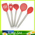 5pcs set Stainless Steel Handle Silicone Cooking Tools kitchen utensils set non stick silicone cooking tools