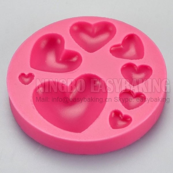 Gum Glue Cake Decorating : Aliexpress.com : Buy Multi 8 Heart Silicone Mould Cupcake ...