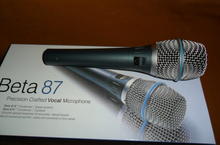 Free shipping + Beta87A 87A Wired Dynamic Professional vocal microphone