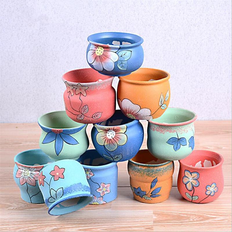 Compra ollas de cer mica pintada online al por mayor de Macetas ceramica online