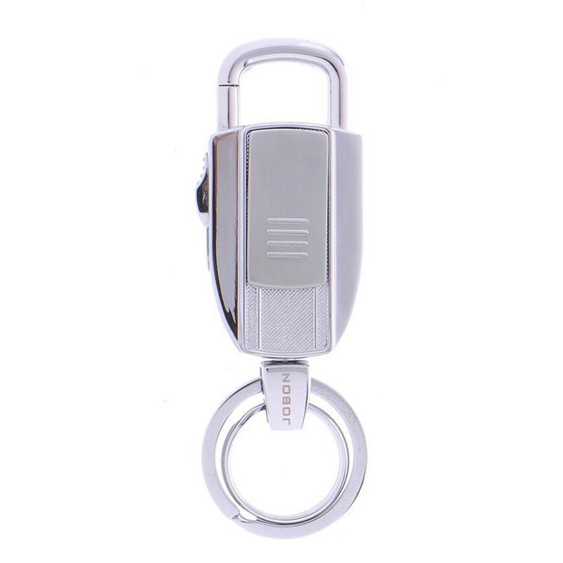 ถูก มัลติฟังก์ชั่โลหะพวงกุญแจอิเล็กทรอนิกส์ไฟแช็กUSBชาร์จซิการ์ไฟแช็คแบบพกพาแกดเจ็ตสร้างสรรค์รถพวงกุญแจ