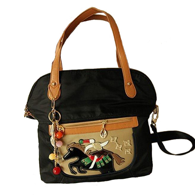 Tassel Bags Women 2014 New Fashion Handbags in Totes Oxford Double Handle Shoulder Bags Popular Circus Horse Messenger Bags