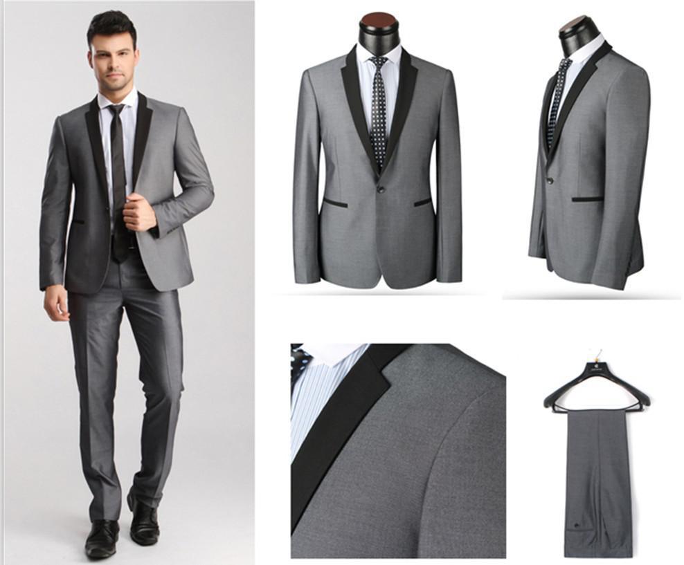 Online Kaufen Großhandel herren slim fit anzug grau aus China herren ...