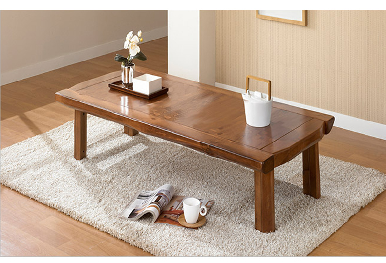 Asian Furniture Japanese Style Floor Low Foldable Table 130*60cm Oriental Design Living Room Antique Wood Coffee Table Wooden(China (Mainland))