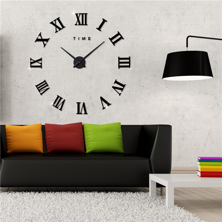 New Fashionable Wall Clock With 3D Effect Style Real Big Room Home Decorations Model Alloy Clock Face,Aluminum Wall Clock(China (Mainland))