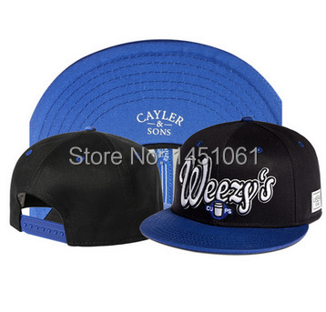 New Arrial Men's CAYLER&SONS WEEZY's snapback hats brand hip hop fashion popular adjustable caps Women's(China (Mainland))