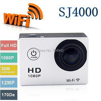 Free shipping!WIFI video action camera full hd 1080p waterproof 30M Sport camrea WIFI