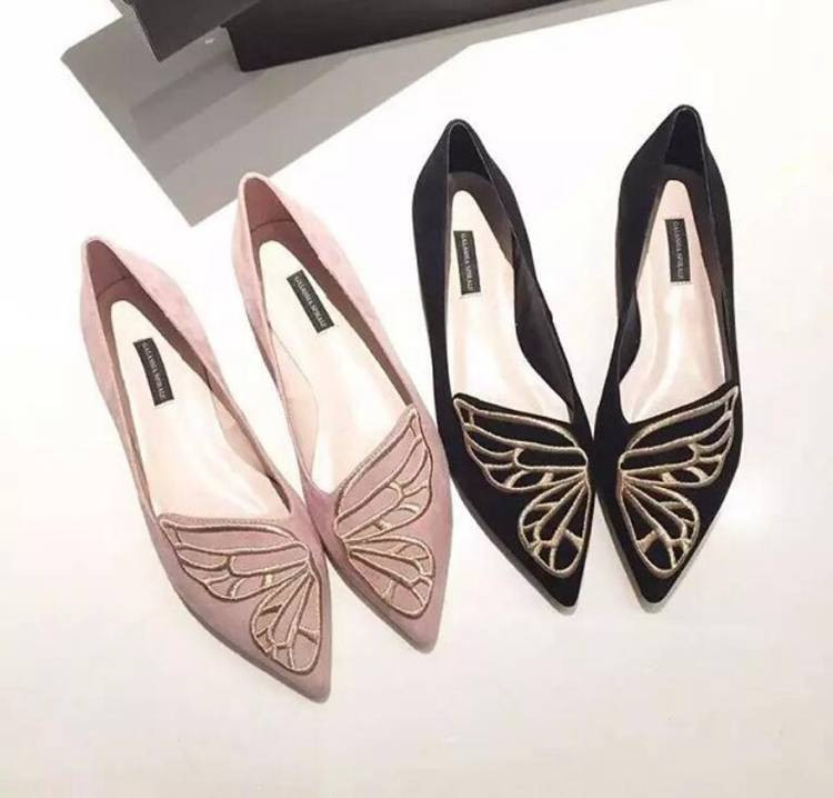 Fashion Butterfly Shoes Woman Flat Oxford Shoes For Women Black Pink Slip On Loafers Luxury Designer Shoes Ladies Flat Shoes (12)