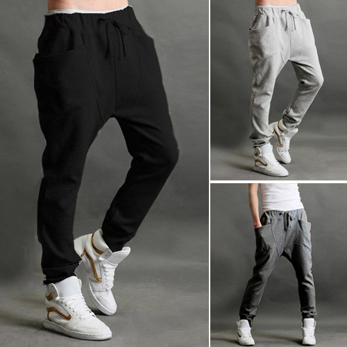 Low Price Mens Jogger Dance Sportwear Baggy Harem Pants Casual Slacks Trousers Sweatpants US S M L(China (Mainland))
