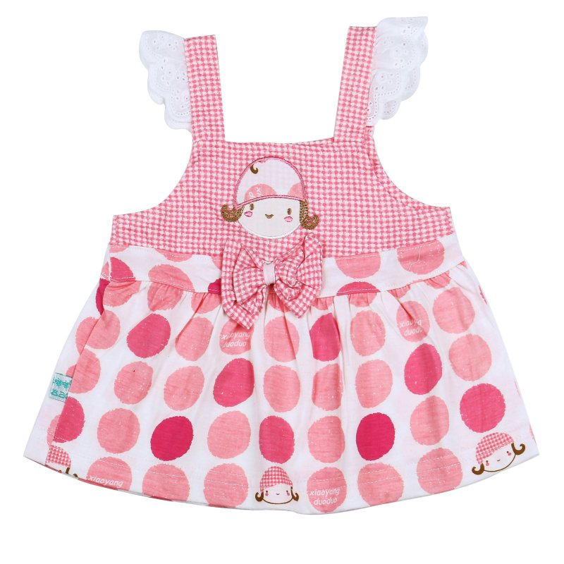 Factory Price! 2 Color Baby GirlsPrinted sleeveless halter Vest Shirt + Pants Cotton Suits Cloth Set 0-3Y Hot(China (Mainland))