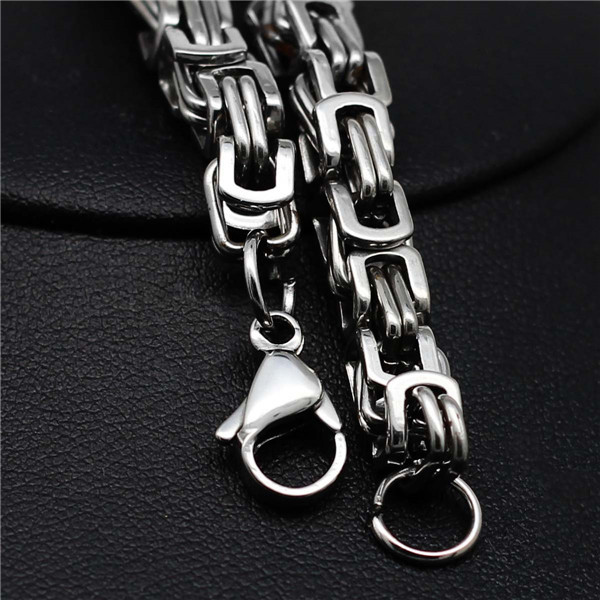 8 inches 6mm fashion design men chain bracelet never fade guarantee brand design couple wife huaband