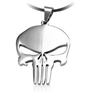 MARVEL-SUPER-HERO-SKULL-The-PUNISHER-DARK-KNIGHT-Stainless-Steel-Leather-Chain-Pendant-Necklace