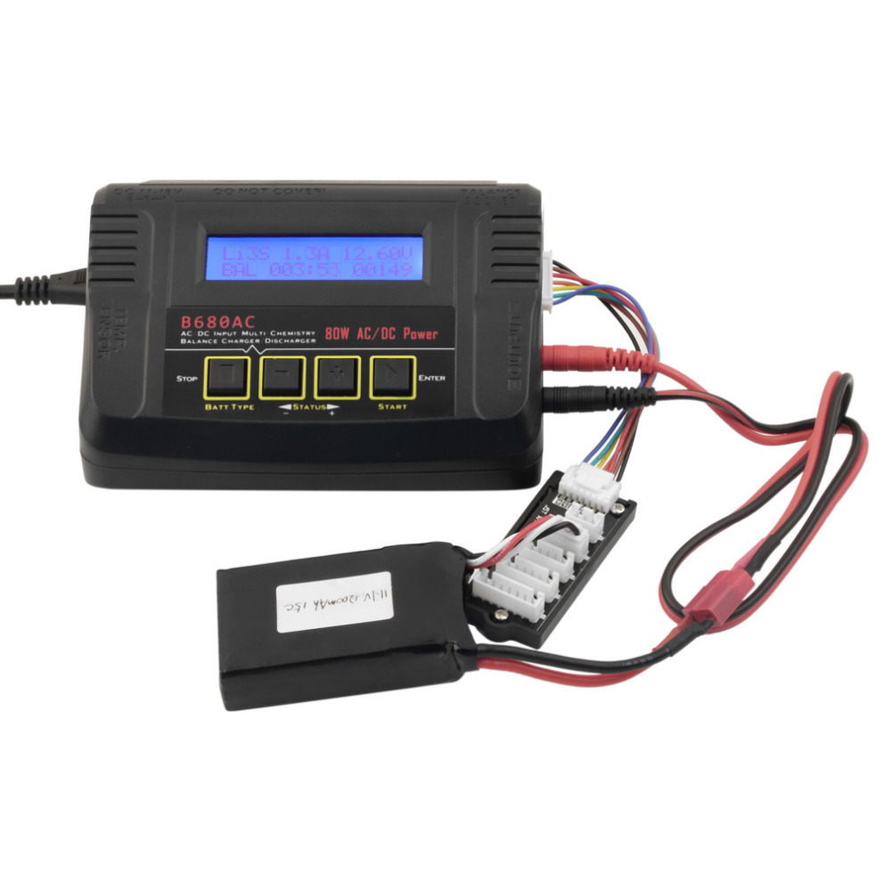 Potable 1s-6s Lipo NiCd Li-Ion LiFe NiMH Battery Charger Smart Digital Balance Charger Discharger AC DC 80W For Lipo Battery <br><br>Aliexpress