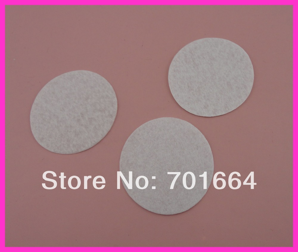 300PCS 6.0cm white round felt pads for flower and brooches' back,black round felt spacers,non-woven Circles(China (Mainland))