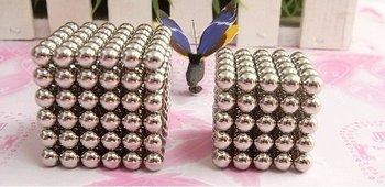 Wholesale 3set /lot neodymium magnet,Buckyballs Neocube Magic Cube 5mm Magnetic Ball,Neodymium Cube Magnet Balls,FreeShipping