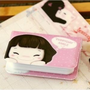 A05-1-02 cartoon cute girl card bag son ji shengde series 12 screens card package deals(China (Mainland))
